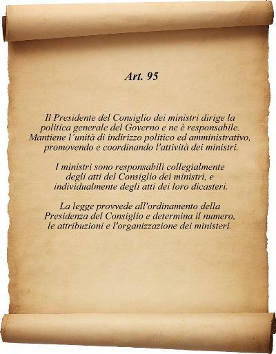 Art 95 costituzione
